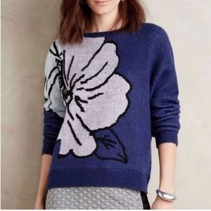 Anthro | HWR Exploded Floral Mavales Sweater